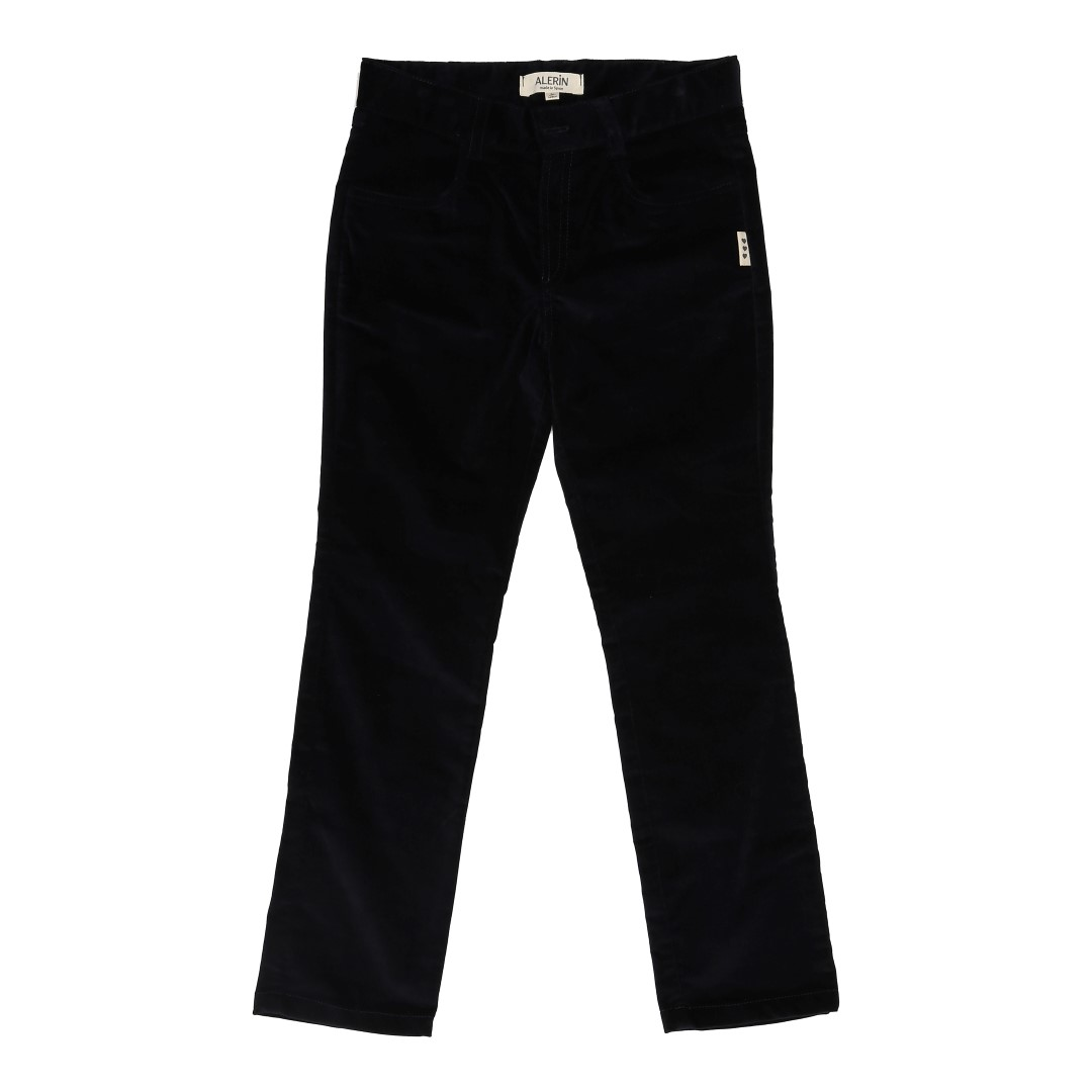 Finn trousers in blue velvet