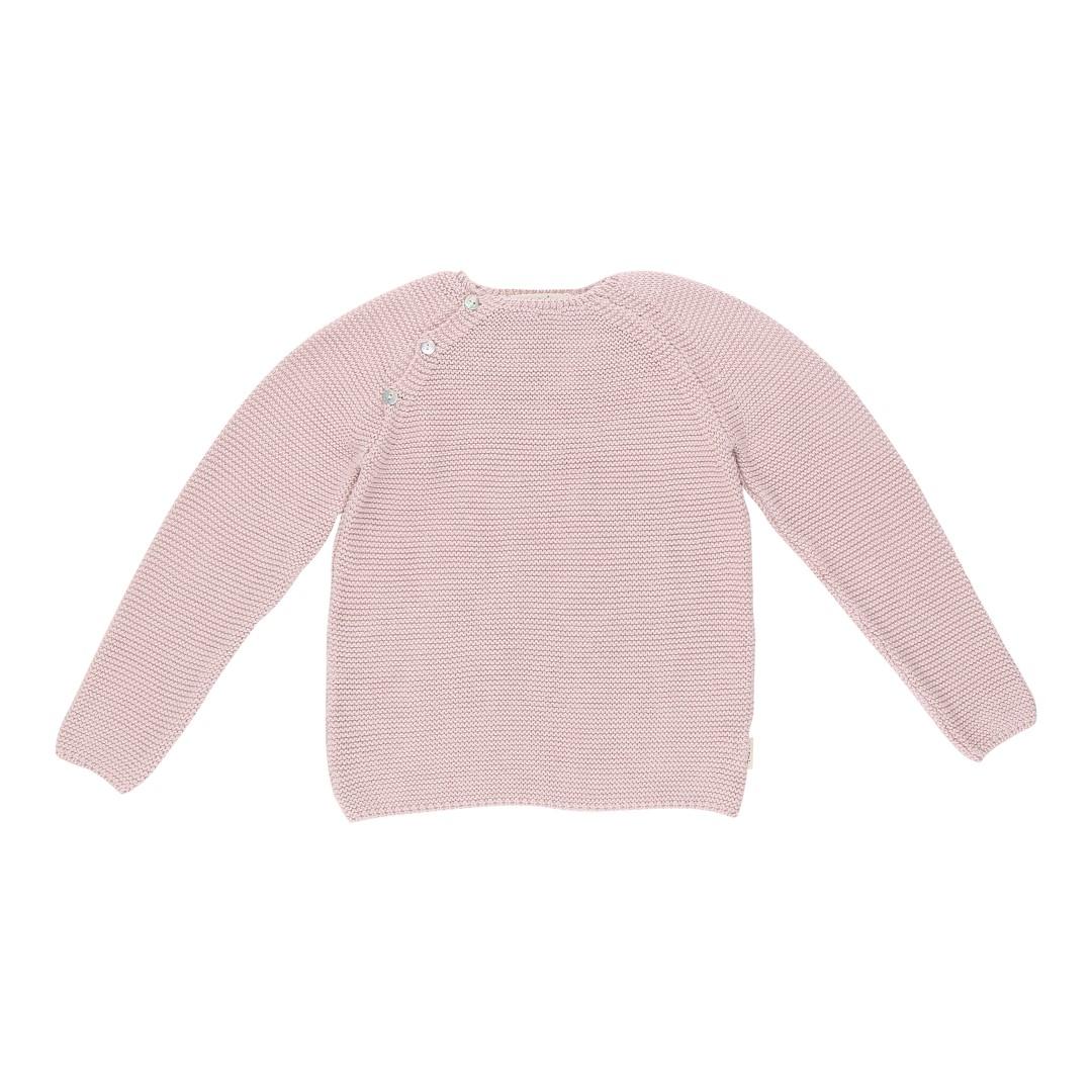 Soria sweater lyserød i blød bomuldsstrik