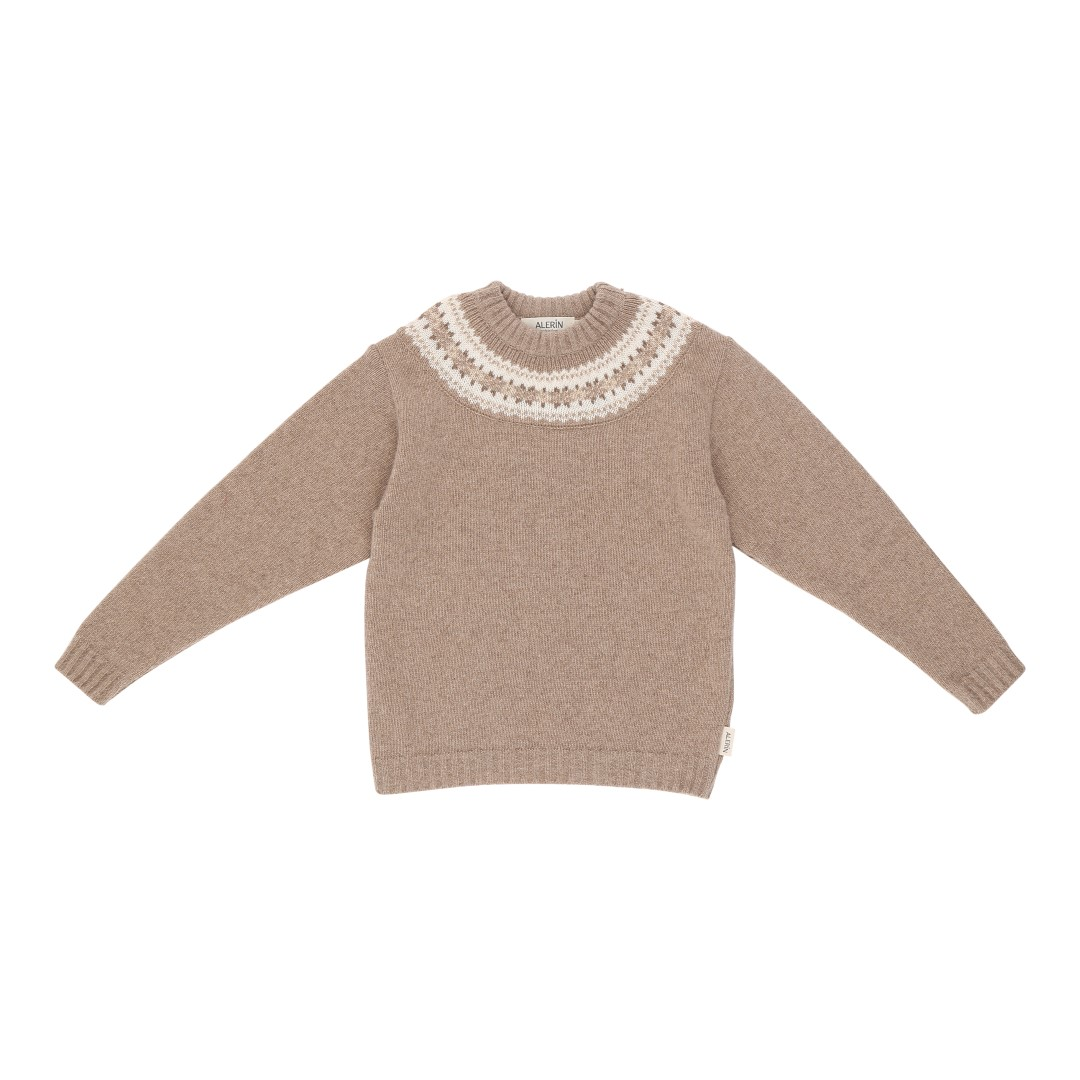 Oslo wool sweater with Nordic pattern