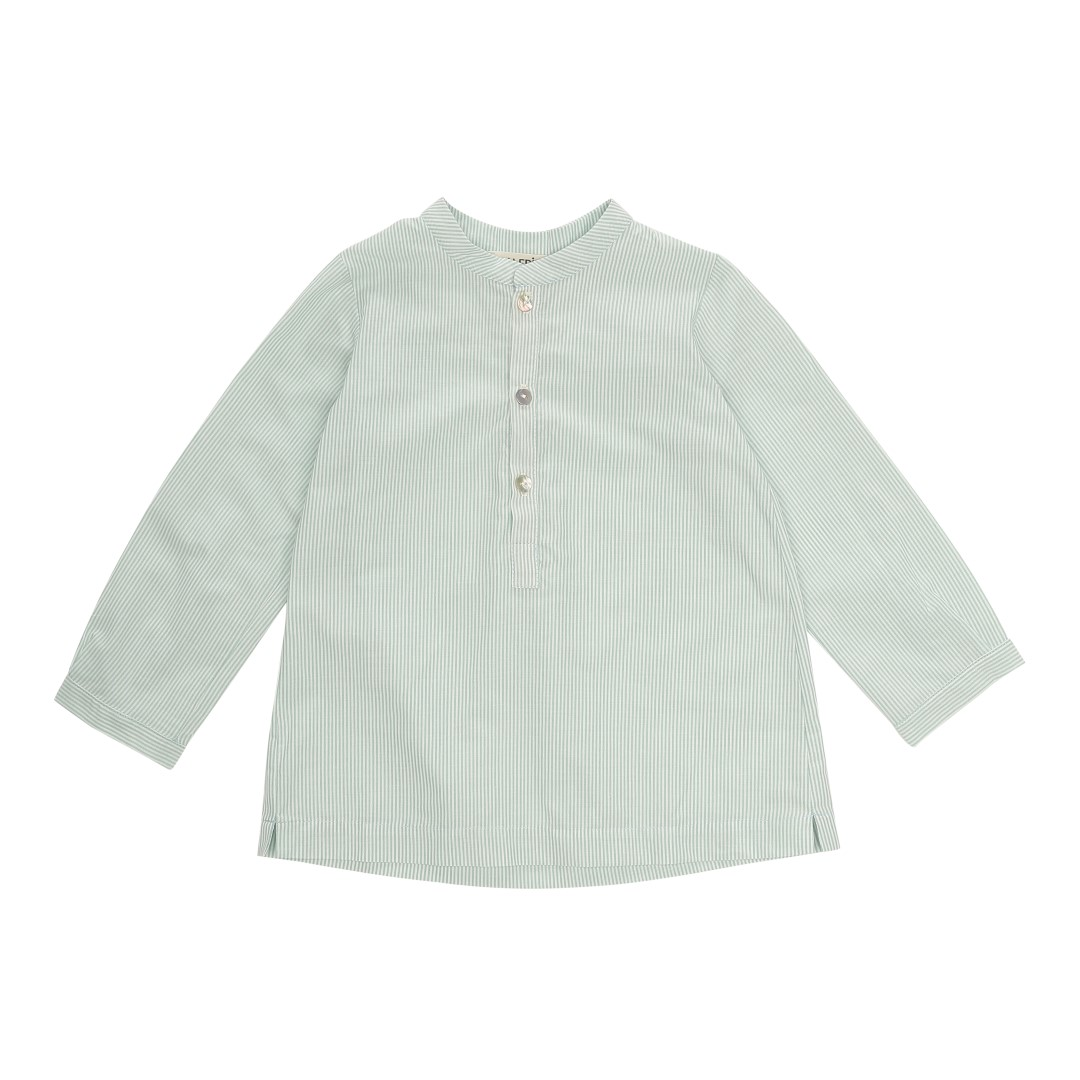 Velez Mao shirt in green-striped cotton