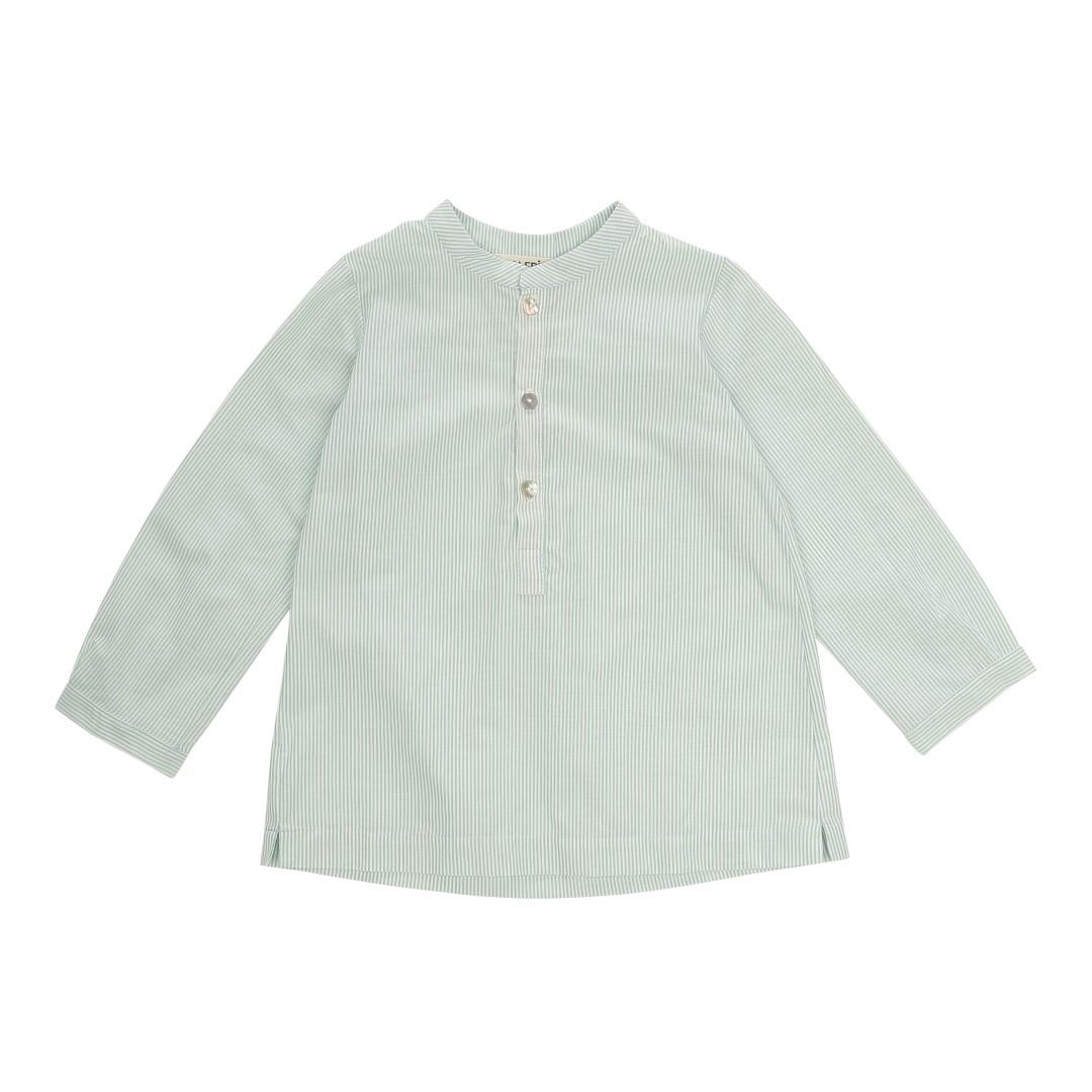 Velez Mao shirt in green-striped cotton