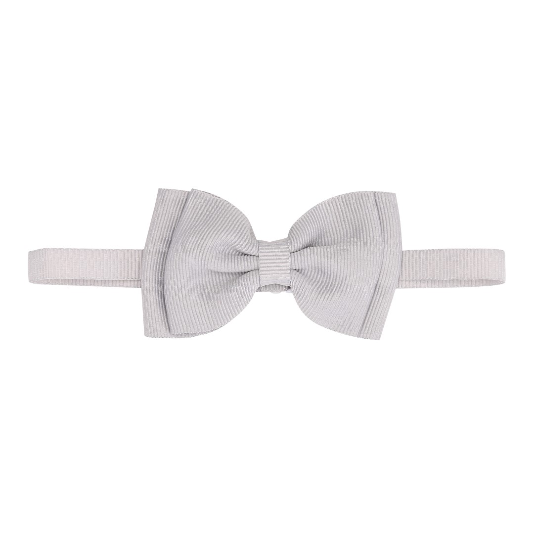 Silver bow ties for boys