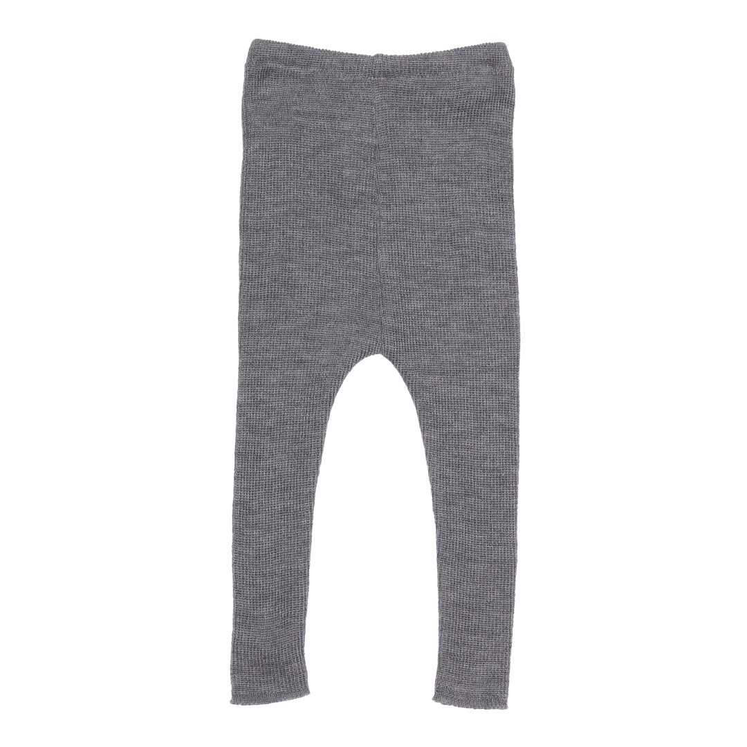 Teruel leggings i grå GOTS certificeret merinould
