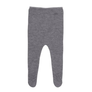 Teruel leggings med fod i grå merinould