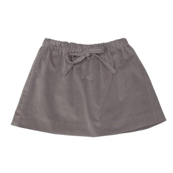 Muriel nederdel i stengrå fløjl