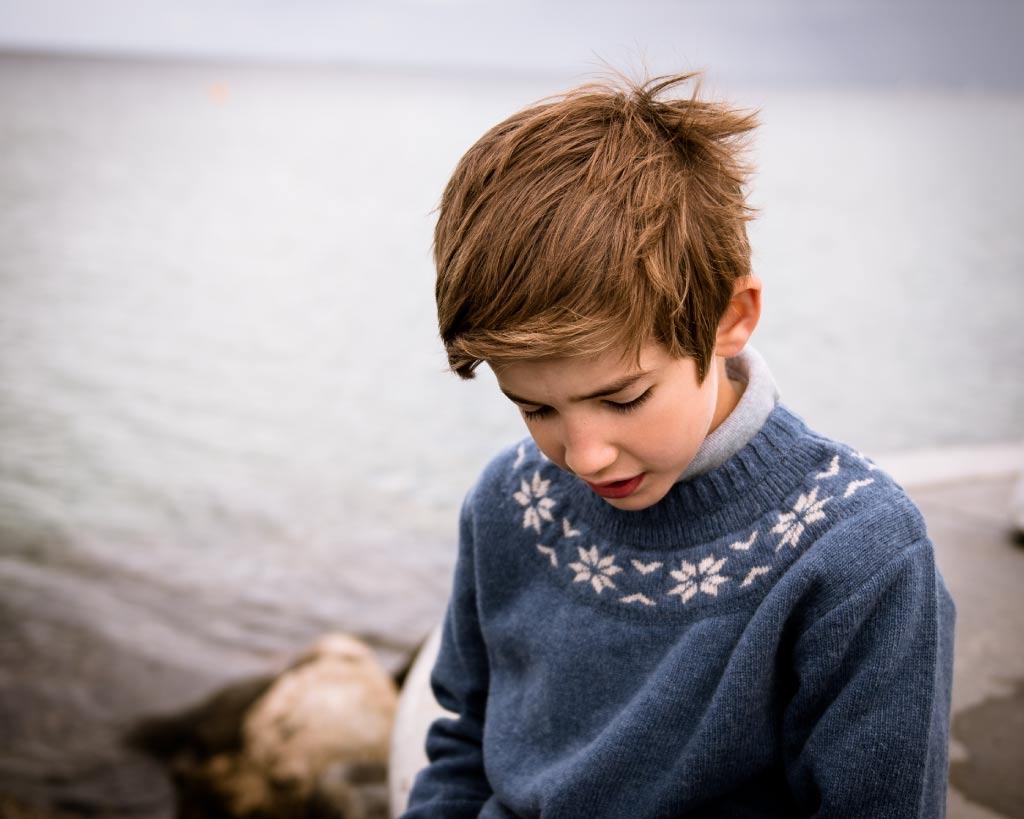 Wool Sweater Oslo Blue