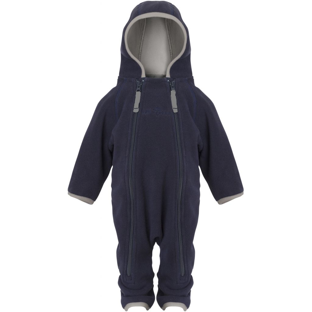 Image of Fleecedragt Baby Navy/Mocca