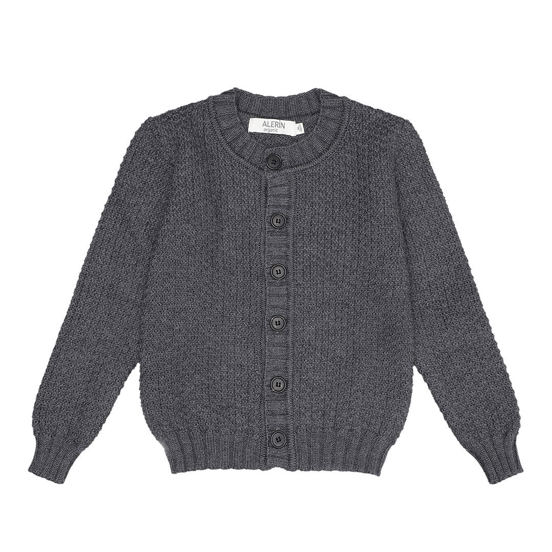 Image of   Cardigan nr. 1 Merino Stone Grey